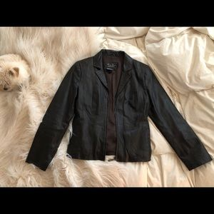 Jackets & Blazers - Vintage Leather Moto Jacket